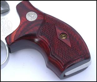 Wood boot grips. For a S&W J frame ...